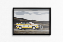 Load image into Gallery viewer, Audi Quattro A2 Group B Fine Art Motorsport Poster
