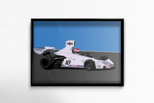 Load image into Gallery viewer, Brabham BT44 F1 Car Fine Art Motorsport Poster - Miles & Myles