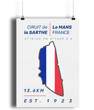 Load image into Gallery viewer, Circuit de la Starth, Le Mans Circuit Poster - Miles & Myles
