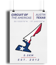 Load image into Gallery viewer, Circuit of the Americas Circuit Poster - Miles & Myles