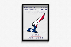 Circuit of the Americas Circuit Poster - Miles & Myles