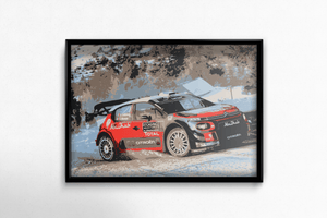 Citroen C3 WRC  2018 in sample poster frame