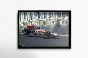 Lotus 49 Fine Art Poster by Miles & Myles