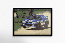 Load image into Gallery viewer, Colin McRae Subaru 1997 poster in sample picture frame