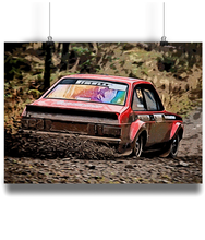 Load image into Gallery viewer, Ford Escort MK2 RS1800 Fine Art Motorsport Poster - Miles & Myles