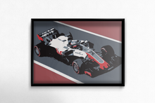 Load image into Gallery viewer, HAAS F1 Car Fine Art Motorsport Poster - Miles & Myles