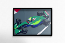 Load image into Gallery viewer, Jordan 191 F1 Car Poster in Sample Frame