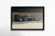 Load image into Gallery viewer, Lotus Renault 98T Fine Art Poster in sample frame