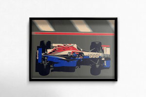 BAR 01 F1 Car Fine Art Motorsport Poster - Miles & Myles