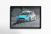 Load image into Gallery viewer, M-Sport Ford Fiesta R5 Fine Art Motorsport Poster - Miles & Myles
