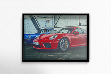 Load image into Gallery viewer, Porsche GT3 RS & Classic 911 Fine Art Poster - Miles & Myles