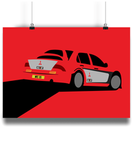 Load image into Gallery viewer, Mitsubishi Lancer WRC05 Poster - Miles & Myles