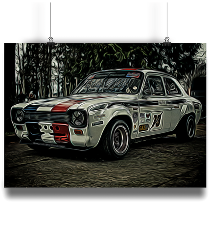 Ford Escort Mexico Fine Art Motorsport Poster - Miles & Myles