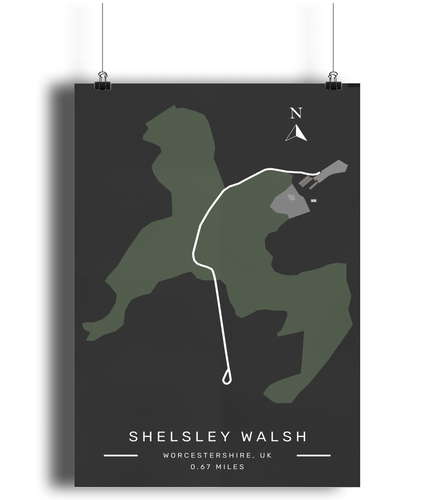 Shelsley Walsh Hillclimb Poster