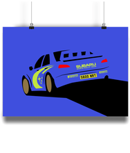 Load image into Gallery viewer, Subaru Impreza World Rally Team Poster - Miles & Myles