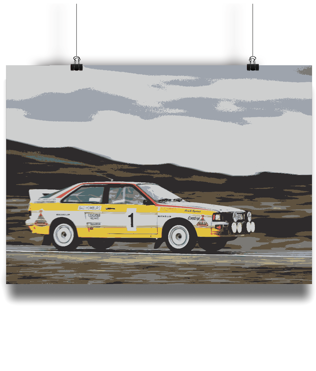 Audi Quattro A2 Group B Fine Art Motorsport Poster