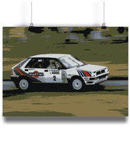 Load image into Gallery viewer, Lancia Delta Integrale Fine Art Motorsport Poster - Miles & Myles