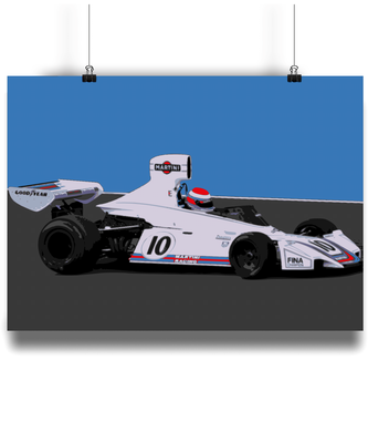 Brabham BT44 F1 Car Fine Art Motorsport Poster