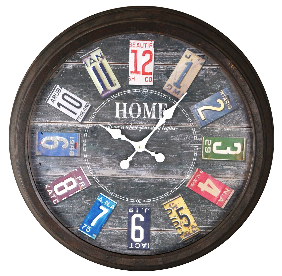 Licence Plate Clock - Clocks - themayacompany