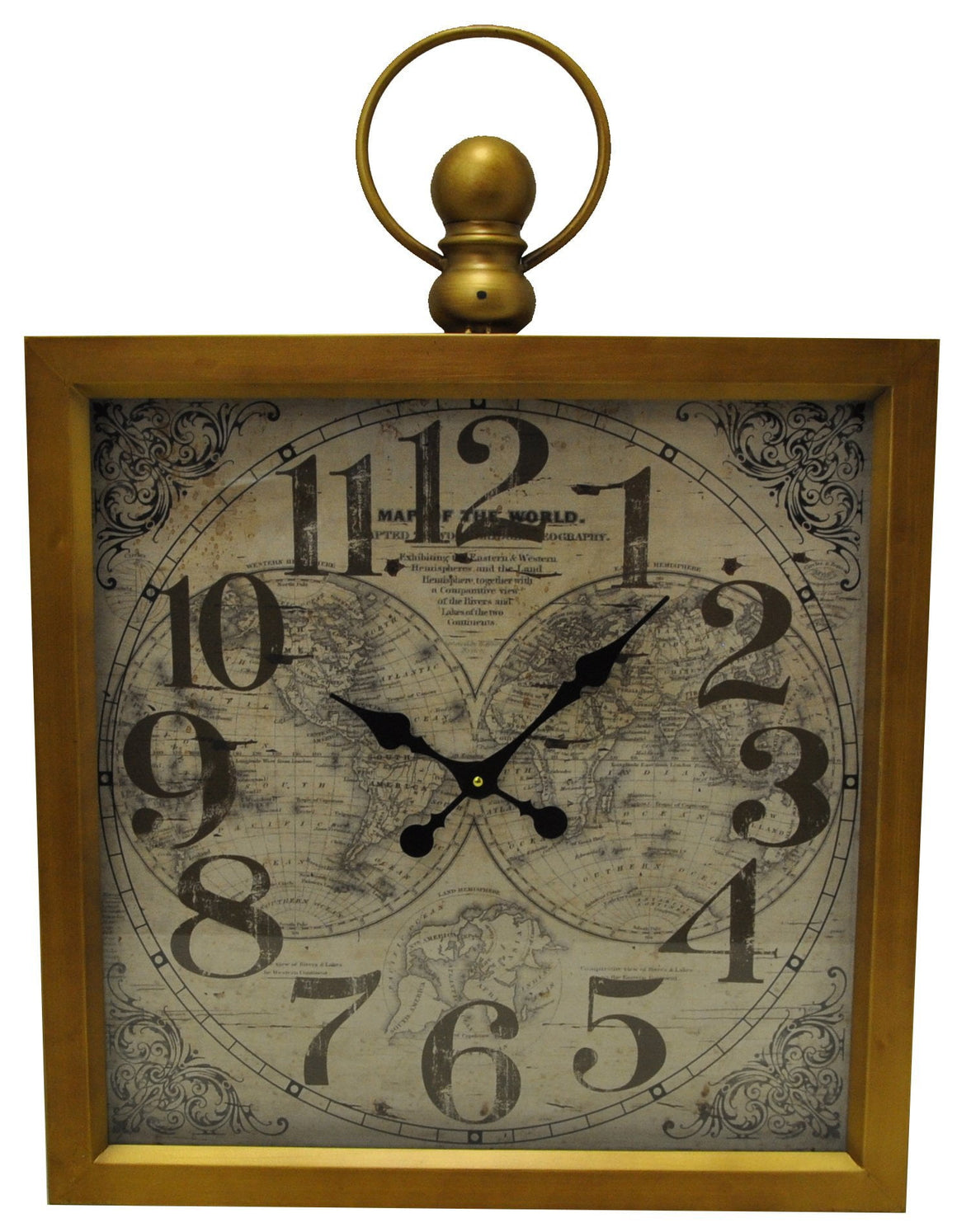 Antique Square Clock - Clocks - themayacompany
