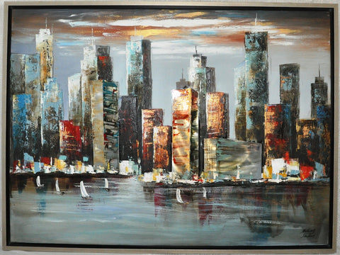 New York Skyline Painting - Wall Décor - themayacompany