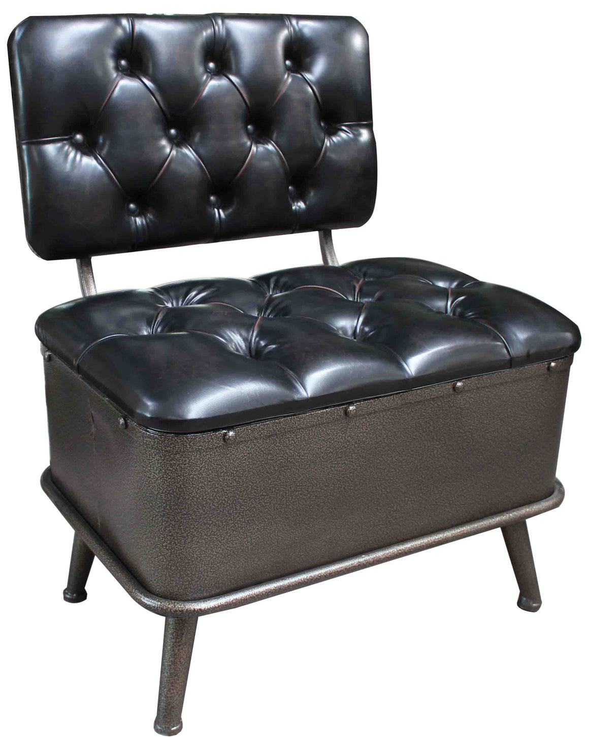 Storage Chair - Faux Leather - Accent Furniture - themayacompany