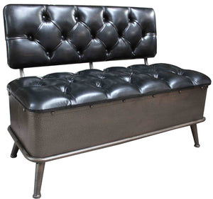 Storage Bench - Faux Leather - Accent Furniture - themayacompany