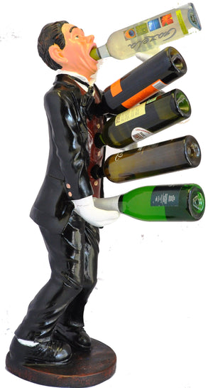 Drinking Waiter Wine Holder