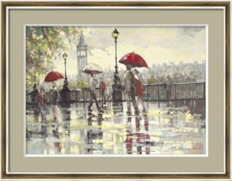 Raining in London Painting