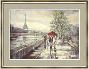 Raining in Paris Painting