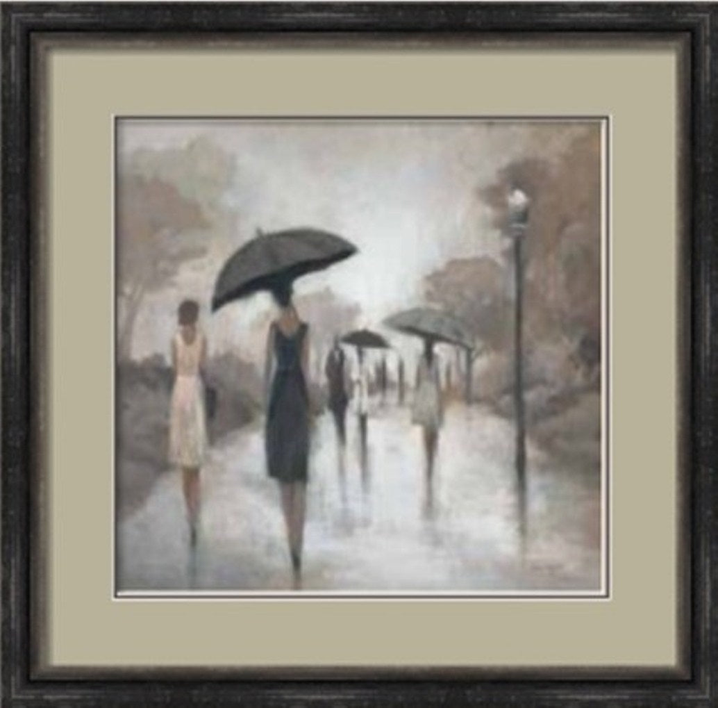 Alone In The Rain Painting