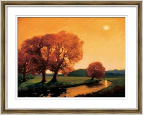 Sunset In Fall Painting