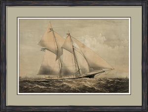 A Yacht at Sea Painting