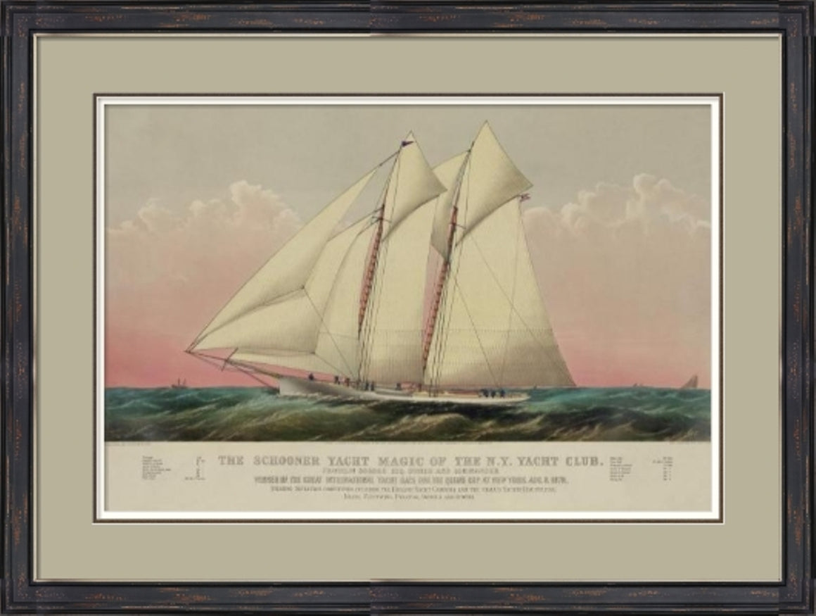 The Schooner Yacht Magic of the N.Y Yacht Club Painting