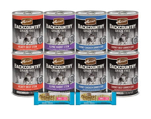 Merrick Wet Canned Dog Food-Grain Free Backcountry Variety 8 Pack