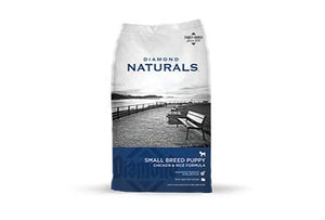 Diamond Naturals Puppy Food Small Breed - 6 lb Bag Plus 6 Cans Chicken Dinner 1 Can Topper 1 Dog Toy