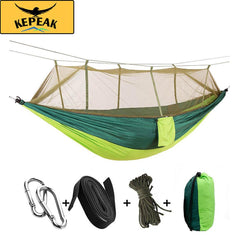 Kepeak 10-foot Single/Double Camping Hammock With Mosquito Net - KEPEAK-Pro