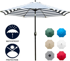 Kepeak 6 Colors 8 Sturdy Ribs Outdoor Umbrella - KEPEAK-Pro