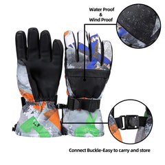 Ski Gloves, Warmest Waterproof and Breathable Snow Gloves,for Parent Child Outdoor - KEPEAK-Pro