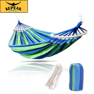 Kepeak Cotton Soft And Comfortable 475lbs Ultralight Canvas Camping Hammock - KEPEAK-Pro