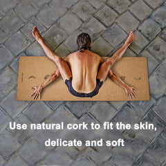 KEPEAK Cork Yoga Mat- Non-Slip Sweatproof Surface - KEPEAK-Pro