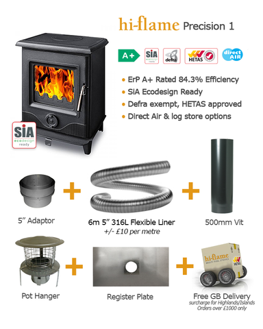 Precision 1 Stove & Flue Bundle