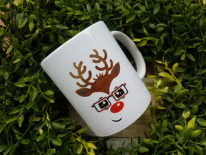Boy Deer with Glasses Mug