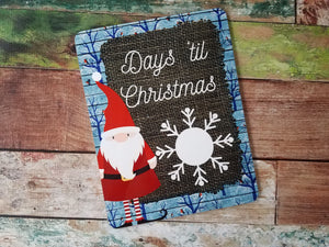 Santa Countdown to Christmas Board