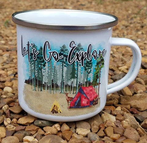 Camp Mug Let's go explore