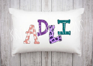 Personalized name Pillowcase