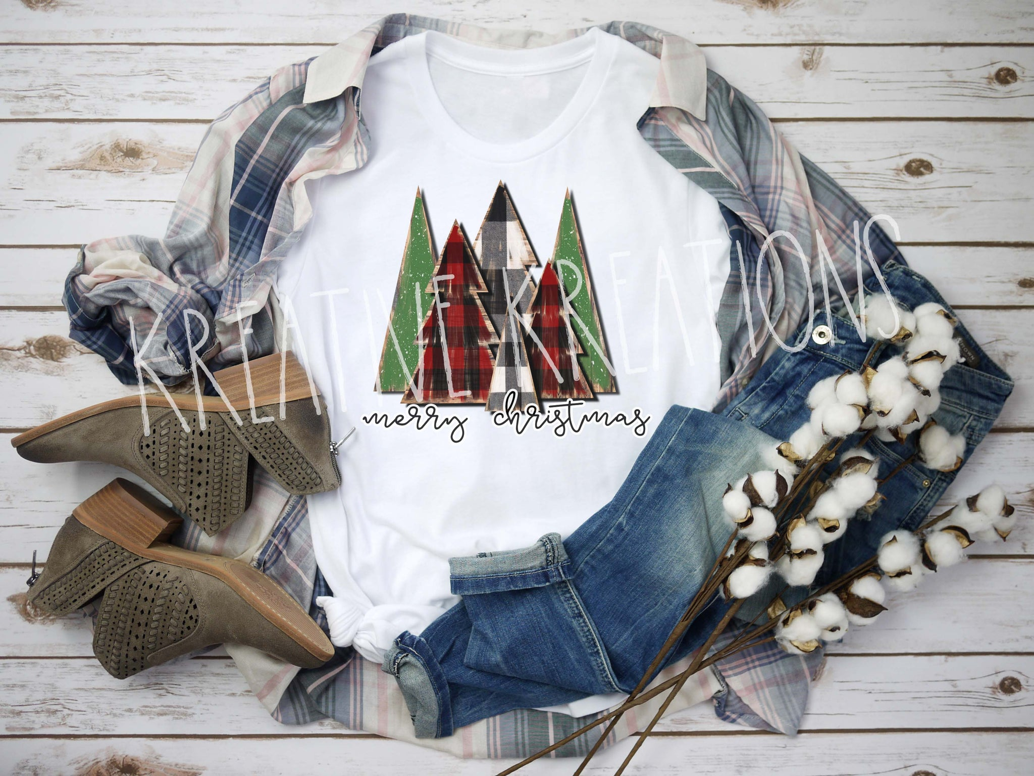 Wooden Christmas tree Tee
