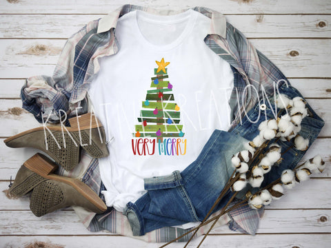 Very Merry Christmas tree Tee