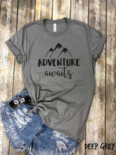 Load image into Gallery viewer, Adventure awaits T-Shirt