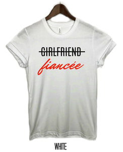 Girl friend Fiancee with Red Lettering